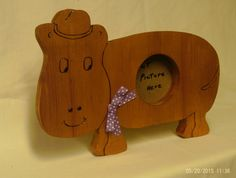 wooden hippo picture frame made to order by UneekWoodenCrafts