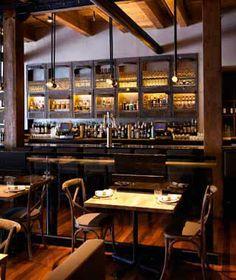 Stephanie Izard's Girl & the Goat, Chicago Cafe Restaurant, Restaurant Design, Restaurant Ideas, Bar Interior, Interior Design, Design Design, Industrial Lighting, Modern Industrial, Industrial Interiors