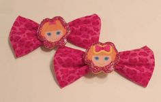 La La Loopsy Pink Leopard Hair Bows by JENSTARDESIGNS on Etsy, $5.75