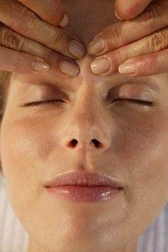 Lymph drainage massage around the eyes helps to reduce sinus pain and pressure.