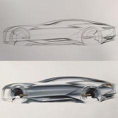 Side View Sketch & Marker www.skeren.co.kr amazon-->search-->skeren #아이디어스케치 #ideasketch #자동차스케치 #cardesign #carsketch #자동차디자인 #marker