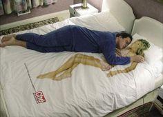 Draps et coussins de lits insolites draps coussins Che