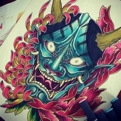 hanya Hijab el hijab y la moda Japanese Demon Tattoo, Japanese Dragon Tattoos, Hannya Mask Tattoo, Hanya Tattoo, Koi, Upper Back Tattoos, Asian Tattoos, Japan Tattoo, Japanese Tattoo Designs