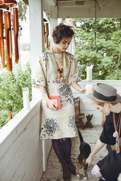 Nimli The Jane Spofford Linen Dress- Printed