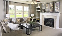 Light paint makes the built-in bookcase and mantel pop ~ CO