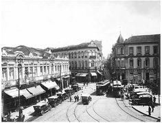 Largo e Rua de São Bento, São Paulo - SP (1920)