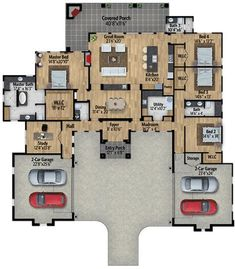 Modern Hill Country House Plan with Split Bedrooms - 430027LY | Architectural Designs - House Plans