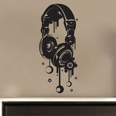 Headphones Wall Decal & Teenage Wall Decals From Trendy Wall Designs