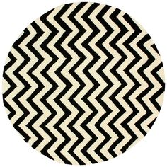 Add striking style to your living room or an unexpected pop to your dining room with this hand-tufted wool rug, highlighting a bold chevron motif in black an. Area Rugs Cheap, Cheap Rugs, Round Area Rugs, Hall Carpet, Cow Hide Rug, Hand Tufted Rugs, Contemporary Rugs, White Area Rug