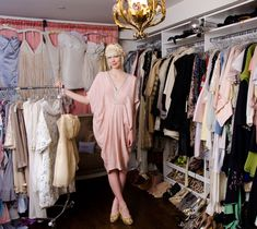 erin featherston's closet *drool* | via Late Afternoon - click through for many more pictures!