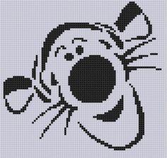 Tigger Cross Stitch Pattern | Craftsy Disney Cross Stitch Patterns, Cross Stitch For Kids, Cross Stitch Animals, Cross Stitch Charts, Cross Stitch Designs, Learn Embroidery, Cross Stitch Embroidery, Embroidery Patterns, Stitch Cartoon