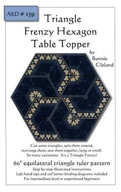 Hexagon table topper triangle frenzy AED159.jpg