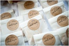 wedding day cookie favors LinneaLiz Photography