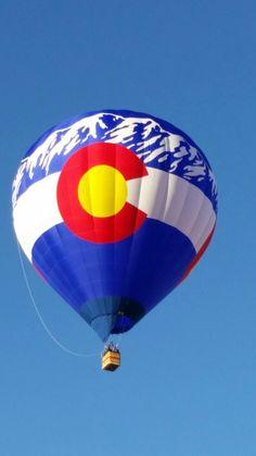 Colorado Hot Air Balloon ,at the 2016 Albuquerque  International Hot Air Balloon Fiesta