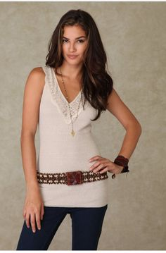 Free People We the Free V neck tank size m - blue