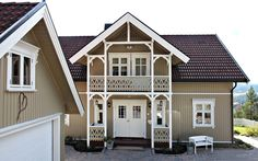 Beautiful Norway, Scandinavian Home, Home Reno, Home Fashion, Porch, Sweet Home, House Ideas, Outdoor Structures, Mansions
