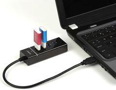 Portable 4-Port SuperSpeed USB 3.0 Hub
