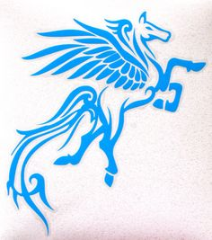 Pegasus decal in Sky Blue by NEWD on Etsy, $12.00