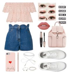 """""""Untitled #40"""" by kimtaehyungkim ❤ liked on Polyvore featuring Valentino, Vans, Silver Lining, Miguelina, Lime Crime, Forever 21 and Pernille Corydon"""