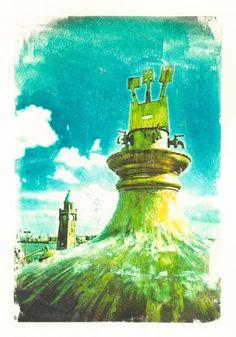 'Hamburg,+alter+Astrabraukessel+hinter+Hotelhafen+Hamburg,+Landungsbrücken'+von+liga-visuell+bei+artflakes.com+als+Poster+oder+Kunstdruck+$17.33