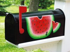 MELON DECORATED MAILBOX