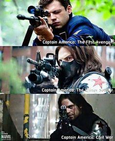 Bucky Barnes. Sniper. *heart eyes motherfucker*