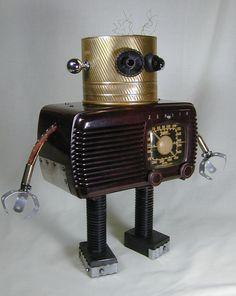 Radio recycled robot