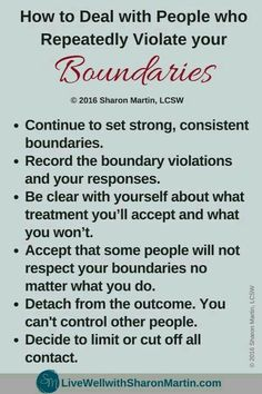 How to Deal with People Who Repeatedly Violate Your Boundaries. Set boundaries in order to have healthy relationships Boundaries Quotes, Personal Boundaries, Healthy Relationships, Relationship Advice, Marriage Tips, Relationship Improvement, Relationship Tattoos, Relationship Comics, Relationship Questions