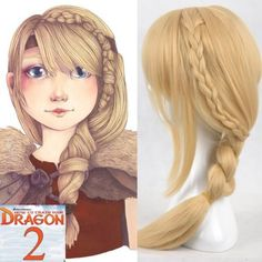 How to Train Your Dragon 2 Astrid Light Blonde Braid Cosplay Hair Full Wig | eBay