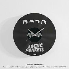 Arctic Monkeys vinyl clock