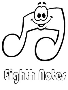 free printable music coloring book pages for kids eighth notes