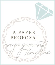 Wedding planning and engagement timeline