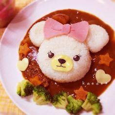 ディズニー ユニベア♪パフィー☆キャラ弁ならぬキャラカレー   ペコリ by Ameba - 手作り料理写真と簡単レシピでつながるコミュニティ -
