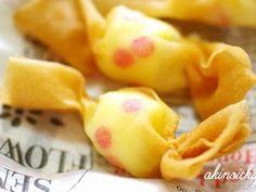 可愛いキャンディ春巻き(キャラ弁おかず)の画像