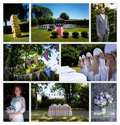 Gorgeous photography by Matt Bode - rustic - summer - garden games - hessian theme - purple flowers - wedding bouquet - outdoor ceremony