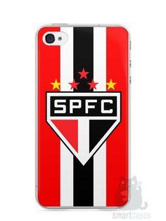 Capa Iphone 4/S Time São Paulo - SmartCases - Acessórios para celulares e tablets :)