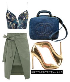 """""""Untitled #1715"""" by stylebyteajaye ❤ liked on Polyvore featuring Zimmermann, Christian Louboutin and Chanel"""