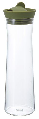 HARIO Glass Ice Water Pitcher, 1000ml, Green >>> You can find more details by visiting the image link.