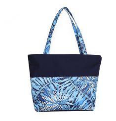 Beach Bag With Waterproof Material Inside. Blue Leaves, Gym Bag, Reusable Tote Bags, Beach, The Beach, Beaches