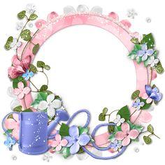 KS Designz: FTU Cluster Frame - Pink Flowers