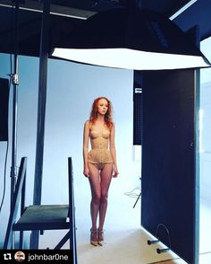 Image by @johnbar0ne | Behind the scenes of @gemmahuh doing her stuff on her Studio Day #behindthescenes #bts #picoftheday #porcelain #skin #lingrie #lighting #model #modelling #agencymodel #agency #agentprovocateur #redhair #redhead #studio #strobes #photography #photographer #photoshoot #legs #cute #happy #instacool #instamodel #makeup #makeupartist #hair #hairstylist