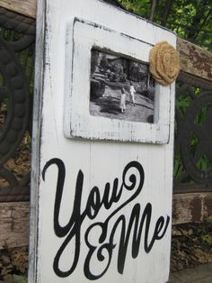 Repurposed Wood Wedding Sign and picture by BlessHerHeartDesigns, $40.00