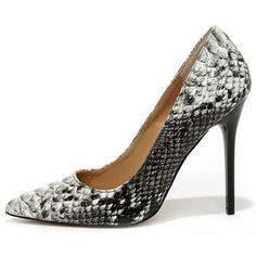 Madden Girl OhNice Natural Multi Snakeskin Pointed Pumps