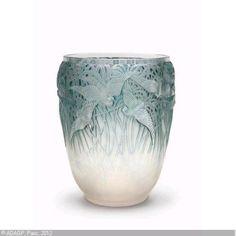 Aigrettes vase. Rene Lalique. 1926