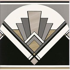 Art Deco fan tile  #RePin by AT Social Media Marketing - Pinterest Marketing Specialists ATSocialMedia.co.uk
