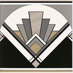 Art Deco fan tile