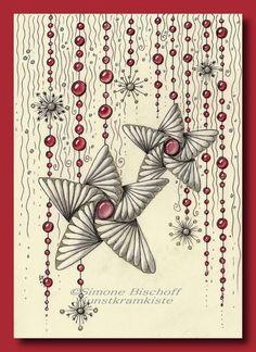 Weihnachtskarten 2017 – Es zipfelt | KunstKramKiste