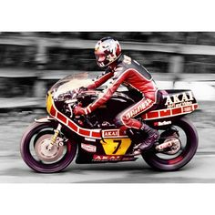 Barry Sheene& Scarborough in 1980 by Tim BeaumontPrints are available in a variety of x approx) - in Canvas ONLY x approx) x approx) x approx) x approx). Yamaha Cafe Racer, Star Wars Spaceships, Yamaha Motor, Motorcycle Types, Old Bikes, Racing Motorcycles, Road Racing, Motogp, Grand Prix