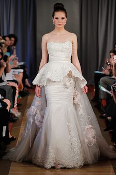 Ines di Santo wedding dress with peplum, Fall 2012