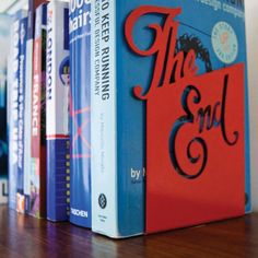 I love these bookends!!    http://www.holycool.net/2011/06/bookends-by-goodwingoodwin.html